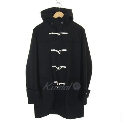 【3月2日値下】BEAUTY & YOUTH ボンディングメルトンダッフルコート ブラック サイズ:XL (三宮店)