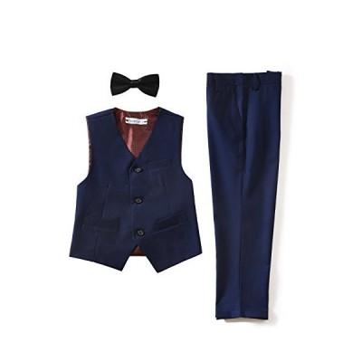【YuanLu】ボーイズフォーマルスーツ 子ども キッズ スーツ ベスト ズボン 蝶ネクタイ 3点セット 子供用スーツ 入学式 発表会 卒業式 結婚式