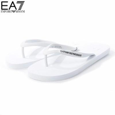 エンポリオアルマーニ EA7 EMPORIO ARMANI ビーチサンダル ビーサン XCQ002 XCC08 ホワイト 2021春夏セール