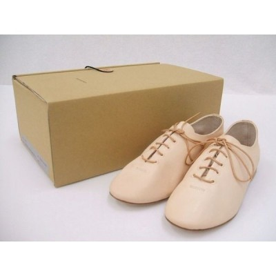 Hender Scheme/manual industrial products 13/mip-13/レザーシューズ/ベージュ/1/エンダースキーマ【レディース】【中古】【geejee_1997】0-1005G◆
