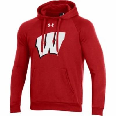 アンダーアーマー Under Armour メンズ パーカー トップス Wisconsin Badgers Red All Day Hoodie