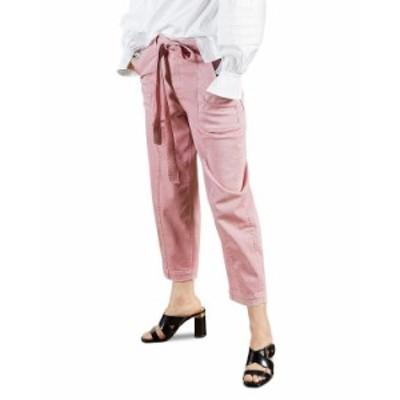 テッドベーカー レディース カジュアルパンツ ボトムス Cropped Barrel Pants Mid Pink