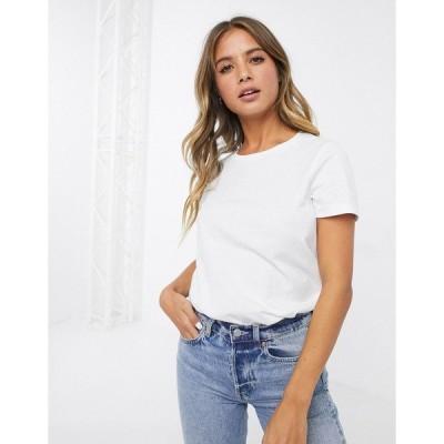 エイソス レディース Tシャツ トップス ASOS DESIGN ultimate organic cotton crew neck t-shirt in white White