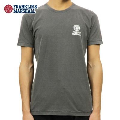 【ポイント5倍 6/23 00:00〜6/28 23:59】 フランクリン マーシャル Tシャツ 正規販売店 FRANKLIN&MARSHALL 半袖Tシャツ クルーネック LOGO TEE BLACK TSM