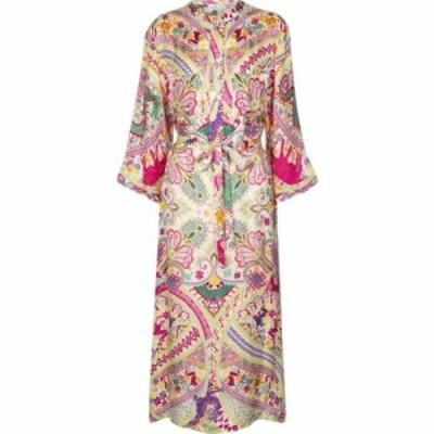 エトロ Etro レディース ワンピース ミドル丈 ワンピース・ドレス Paisley silk-blend midi dress Multicolor