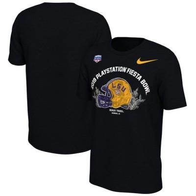 ユニセックス スポーツリーグ アメリカ大学スポーツ LSU Tigers Nike 2019 Fiesta Bowl Bound Helmet T-shirt - Black Tシャツ