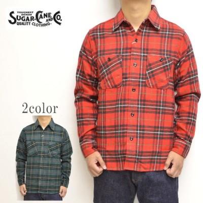 シュガーケーン SUGAR CANE SC28232 長袖シャツ チェック ツイルシャツ ワークシャツ ネルシャツ