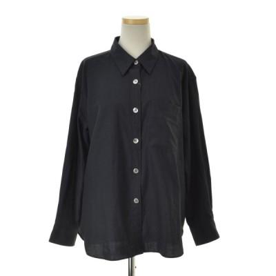 MARGARET HOWELL / マーガレットハウエル 19AW LIGHT COTTON CASHMERE ライトコットンカシミヤ混 レギュラーカラー 長袖シャツ