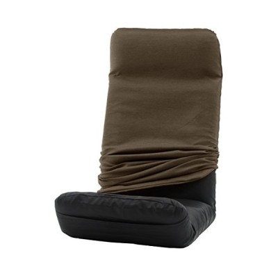 セルタン 日本製 カバーが洗える 座椅子 堕落チェア プレミアム 上タイプ ダリアンブラウン A565UEa-561BR