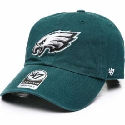 47ブランド 47 メンズ キャップ 帽子 Philadelphia Eagles Clean Up 47 Strapback Cap Green