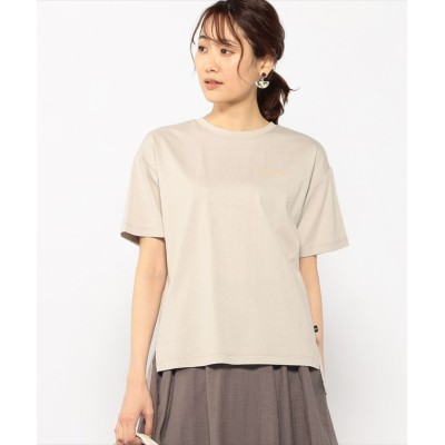 (Petit Honfleur/プチ オンフルール)バックプリントゆるシルエットTシャツ/レディース ベージュ