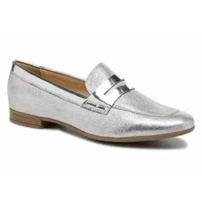 Geox レディースシューズ Geox Loafers D MARLYNA BD828PB Silver CAP MET