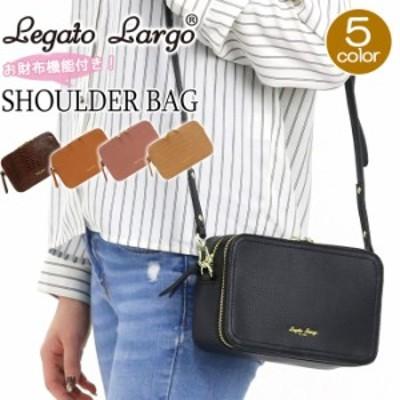 ショルダーバッグ LegatoLargo レガートラルゴ お財布ショルダーバッグ ショルダー バッグ スクエア型 お財布機能 ワンショルダーバッグ