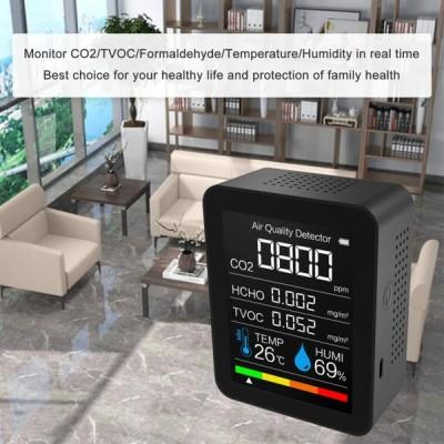 二酸化炭素(CO2 ) ホルムアルデヒド (HCHO) 揮発性有機化合物 (TVOC) 空気質モニター 温度計 湿度計