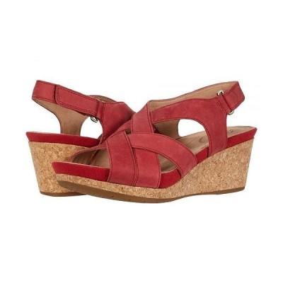 Clarks クラークス レディース 女性用 シューズ 靴 ヒール Un Capri Step - Red Nubuck