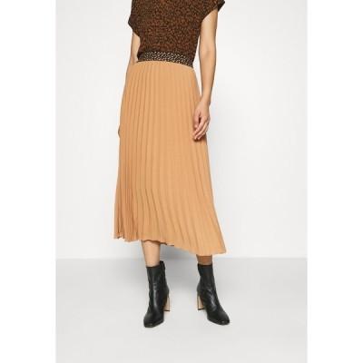 エス オリバー ブラック ラベル スカート レディース ボトムス Pleated skirt - caramel