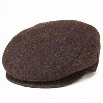 アイビーキャップ 帽子 ハンチング フランネル ウール ウィゲン wigens シンプルデザイン ブラウン