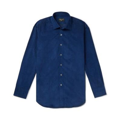 EMMA WILLIS シャツ ダークブルー 15 ½ コットン 100% シャツ