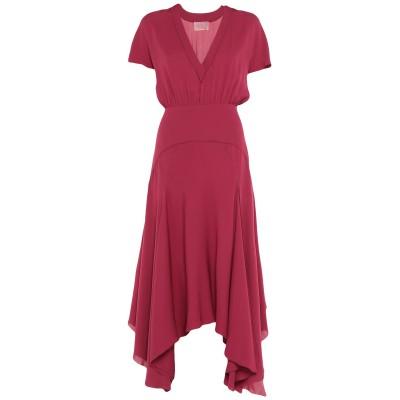 ジャンバティスタ ヴァリ GIAMBATTISTA VALLI ロングワンピース&ドレス ガーネット 40 シルク 100% ロングワンピース&ドレス