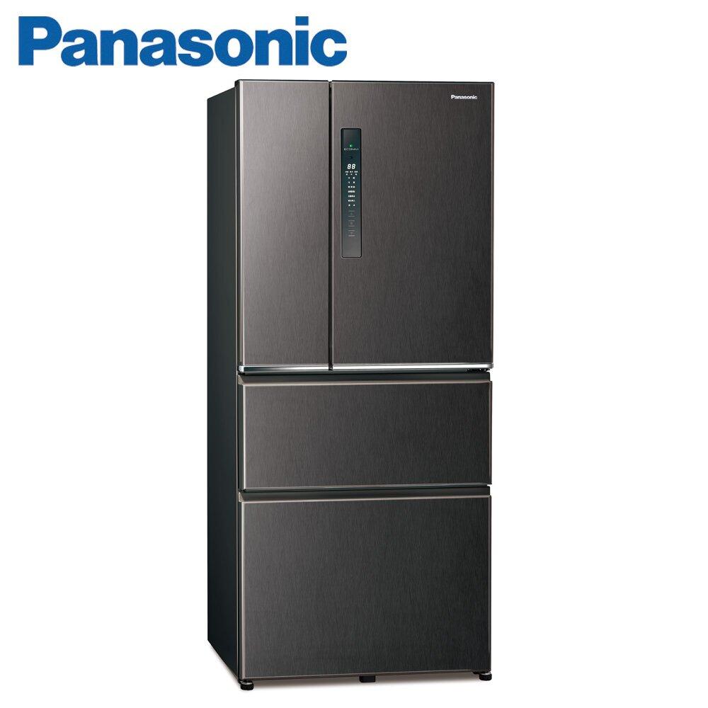 (快倉)Panasonic國際牌610公升四門變頻冰箱(NR-D611XV-V)-絲紋黑