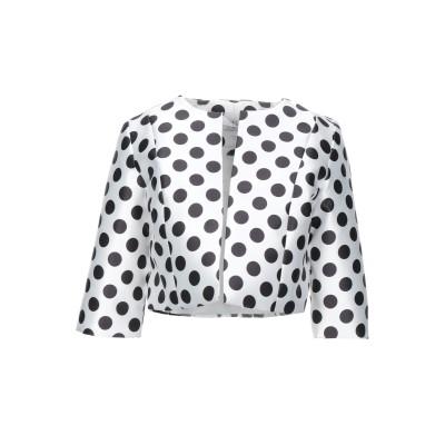 FOREVER UNIQUE テーラードジャケット ホワイト 10 ポリエステル 100% テーラードジャケット