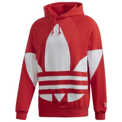 アディダス adidas Originals メンズ パーカー トップス Big Trefoil Pullover Hoodie Lush Red