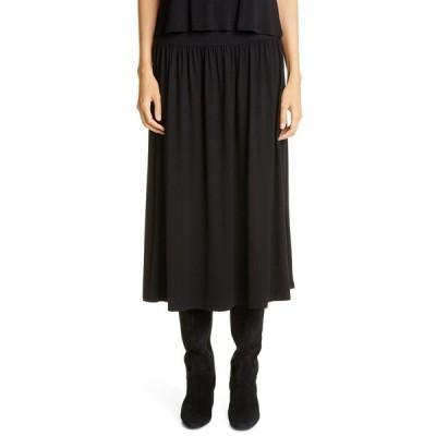 エイリーンフィッシャー レディース スカート ボトムス Fine Jersey Flare Midi Skirt BLACK
