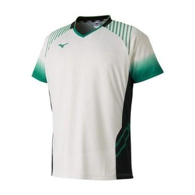 【在庫処分】ミズノ ゲームシャツ(JR北海道着用モデル/ラケットスポーツ) ホワイト Mizuno 72MA9002 01