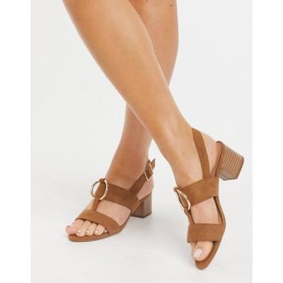 ニュールック New Look レディース サンダル・ミュール シューズ・靴 faux suede ring strap sandals in tan タン