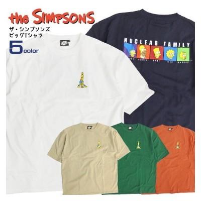 ザ・シンプソンズ Tシャツ The Simpsons ビッグTシャツ メンズ 半袖 ビッグシルエット クルーネック サイドスリット TSS-401