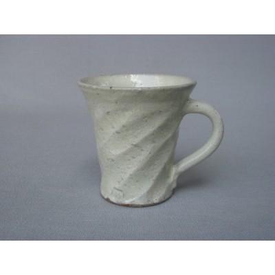 コーヒー マグ カップ 和陶器 和モダン /粉引ねじりマグカップ