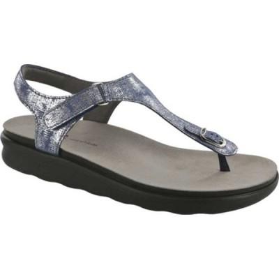 エスエーエス スニーカー シューズ レディース Marina Thong Sandal (Women's) Silver Blue Leather