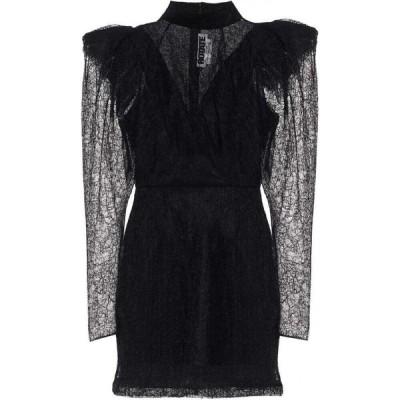 ローテート ROTATE BIRGER CHRISTENSEN レディース パーティードレス ワンピース・ドレス Ida Floral-Lace Minidress Black
