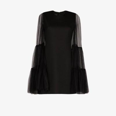 ジャンバティスタ バリ Giambattista Valli レディース パーティードレス ミニ丈 ワンピース・ドレス tulle sleeve mini dress black