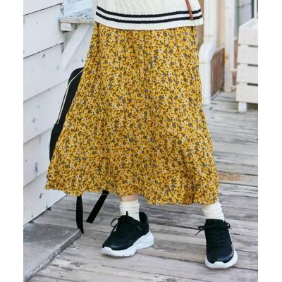 SHOO・LA・RUE/Cutie Blonde(シューラルー) 【M-L】ワッシャープリーツラップスカート