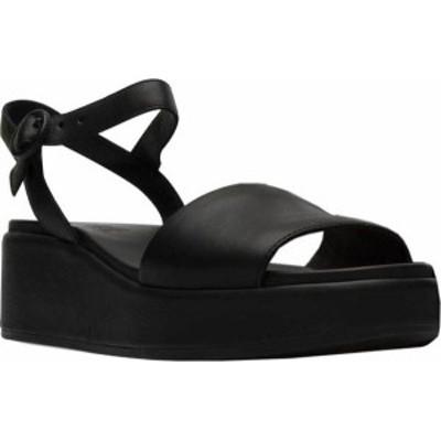 カンペール レディース サンダル シューズ Women's Camper Misia Platform Sandal Black Supersoft Leather