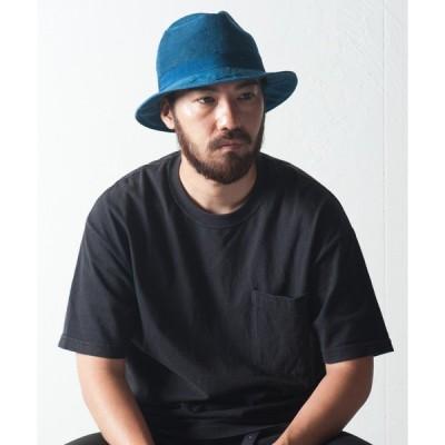 帽子 ハット キビラxフレンチリネン天然染めマニッシュ