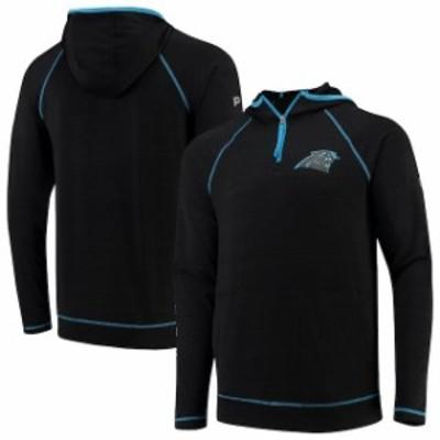 Hands High ハンズ ハイ スポーツ用品  Hands High Carolina Panthers Black Interval Space Dye Raglan Sleeve Quarter-Zip