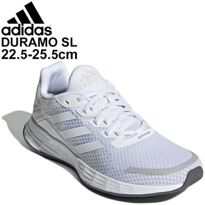 ランニングシューズ レディース スニーカー /アディダス adidas DURAMO SL デュラモ エスエル/ホワイト 白 KYJ96 ジョギング 用 運動靴 ウォーキング  /FY6706