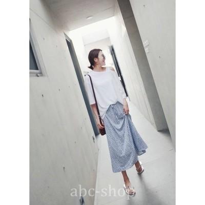 スカートロング丈マキシ丈ミモレ丈グレンチェックチェック柄Aライン大人可愛いきれいめwear.com