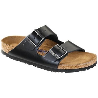 ビルケンシュトック サンダル レディース シューズ Birkenstock Arizona Soft Footbed Sandal Black Amalfi Leather