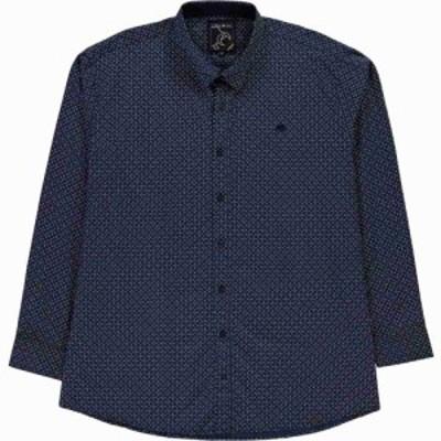 ライジング ブル Raging Bull メンズ シャツ トップス micro geo print shirt Navy