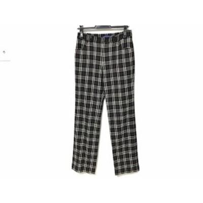 バーバリーブルーレーベル Burberry Blue Label パンツ サイズ36 S レディース 黒×白×レッド チェック柄【中古】20200630