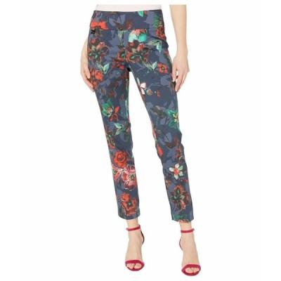 リセットエルモントリオール カジュアルパンツ ボトムス レディース Barbados Floral Print Pull-On Ankle Pants Indigo Blue