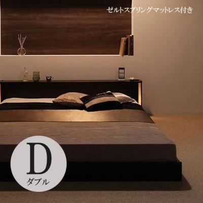 ダブルベッド マットレス付き ベッドマットレスセット ローベッド ダブル すのこベッド 格安 激安 安い おすすめ 大人気 ゼルトスプリングマットレス 040112296