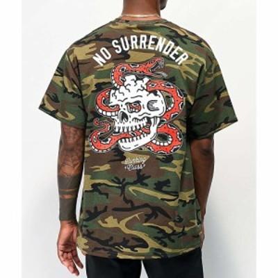 ラーキングクラス LURKING CLASS BY SKETCHY TANK メンズ Tシャツ トップス Lurking Class By Sketchy Tank No Surrender Camo T-Shirt D