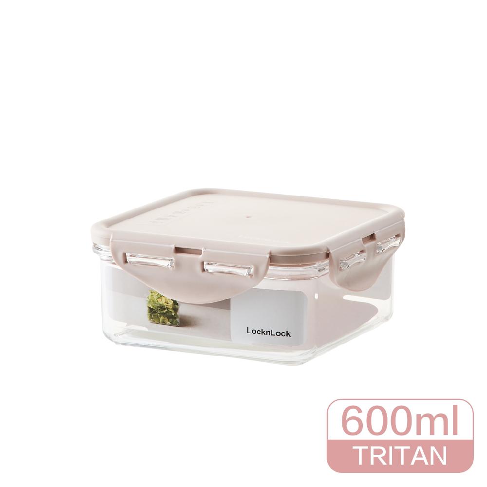 LocknLock樂扣樂扣純淨保鮮盒600ML/正方/粉色