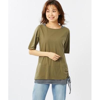 【大きいサイズ】 重ね着風カットソープルオーバー(オトナスマイル) plus size T-shirts, テレワーク, 在宅, リモート