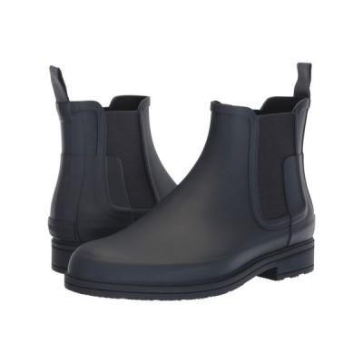 ハンター Hunter メンズ レインシューズ・長靴 チェルシーブーツ シューズ・靴 Original Refined Dark Sole Chelsea Boots Navy