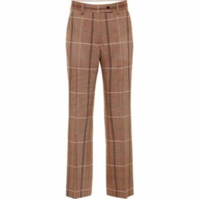 アクネ ストゥディオズ Acne Studios レディース ボトムス・パンツ Wool and cotton-blend pants Brown/White